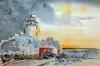 Vinter vid Hanö fyr